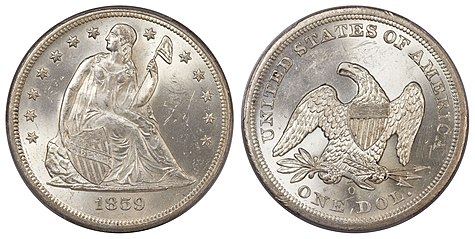 Seated Liberty dollar - Wikipedia