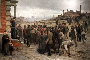 Belgian strike of 1886 - Image: 1886 Koehler Der Streik anagoria