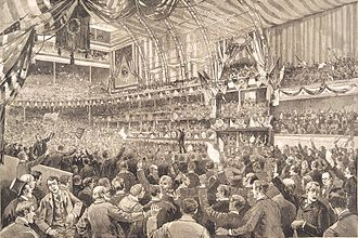 1888 Republican National Convention - Illustration of the convention