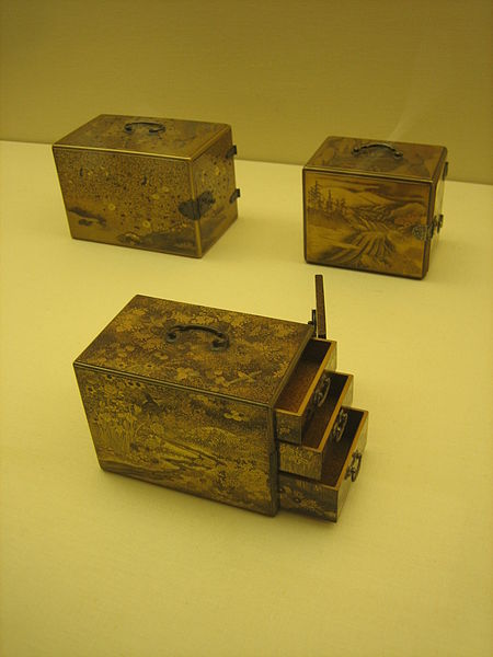 File:18th-19th Century Japanese boxes for writing equipment (3578636206).jpg