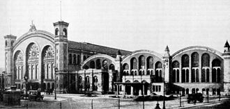 Berlin–Szczecin railway - The Stettiner Bahnhof in Berlin in 1904