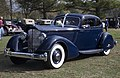 1934 Packard 1106 Twelve Aero Sport Coupé by LeBaron, front left (Hershey 2019).jpg