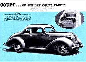 Coupé utility - 1937 Terraplane Utility Coupe, convertible to Pickup