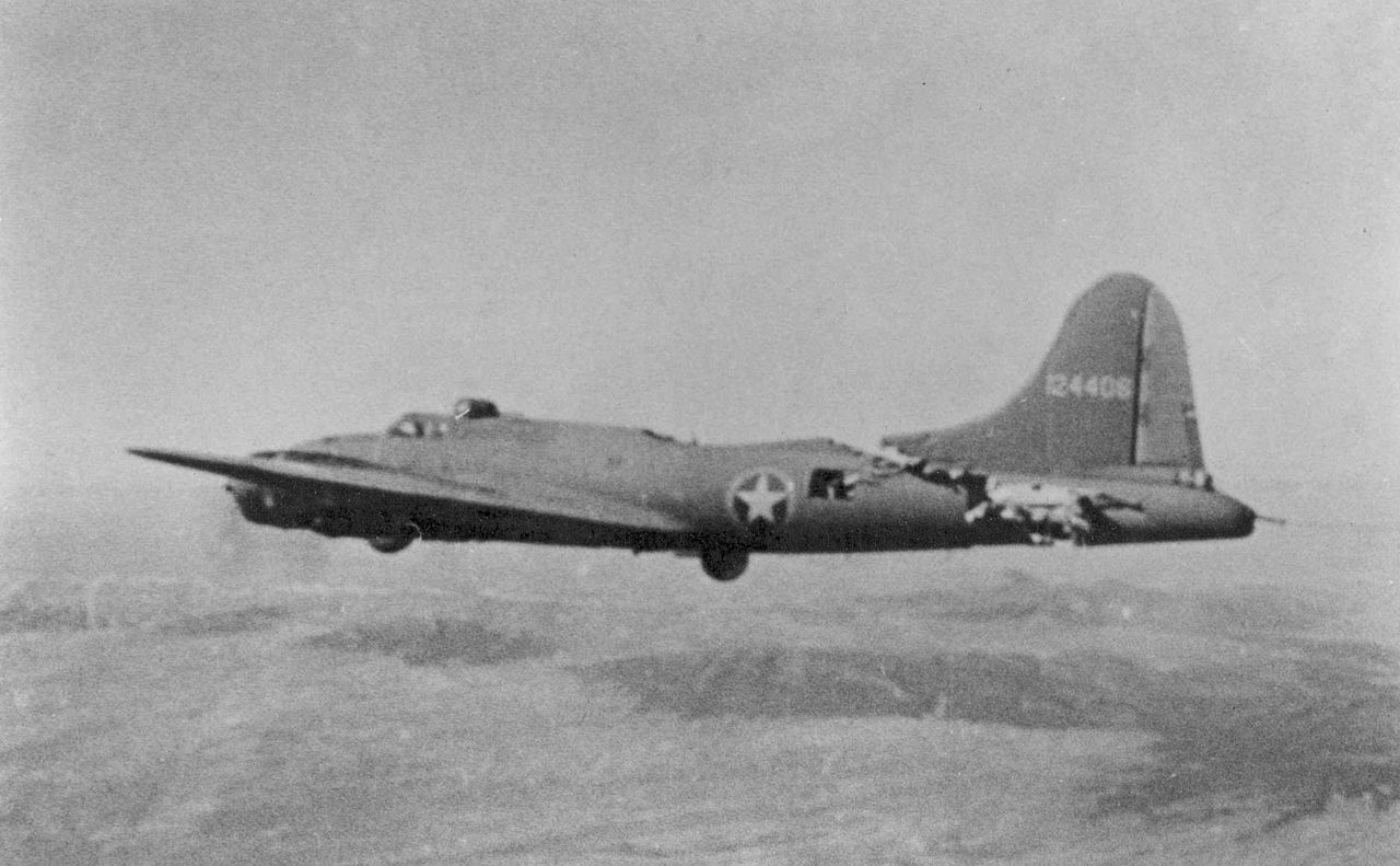 Mighty Eighth Air Force B-17s in Combat Action
