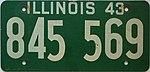 1943 Illinois passenger license plate.jpg