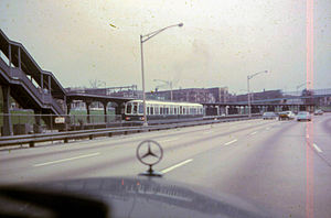 Kostner station (CTA Congress Line) - The station in June 1967
