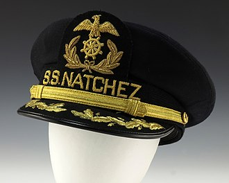 Natchez (boat) - Black SS Natchez hat given to President Ford during his 1976 campaign trip down the Mississippi River.