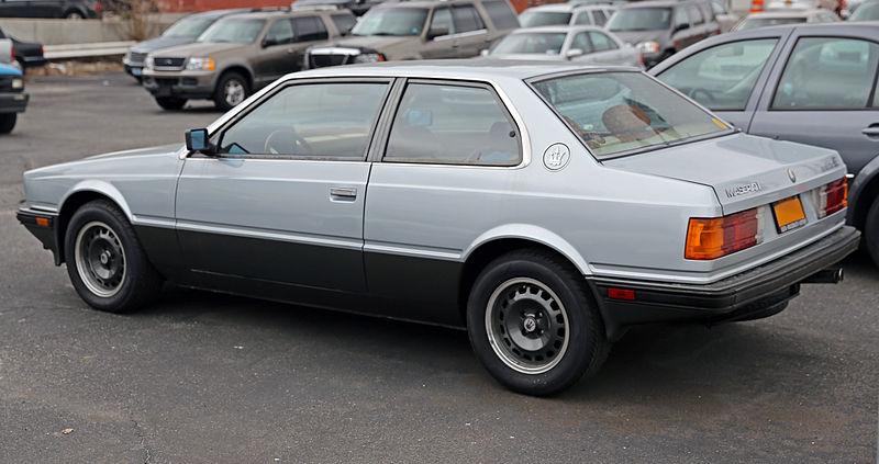 File:1985 Maserati Biturbo E, rear left (US).jpg ...