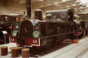 Railway Museum of Athens - Couillet 0-6-0T locomotive A-5.