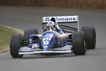 Photo de la Williams FW16B de Damon Hill, ici pilotée par David Coulthard