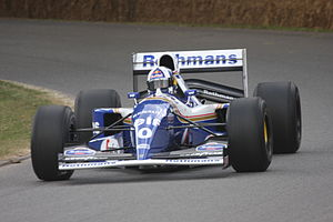 Williams FW16 - David Coulthard driving the FW16B at the 2009 Goodwood Festival of Speed