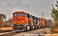 1 2 BNSF 6429 Leads NB Manifest Olathe, KS 11-4-17 (24404557908).jpg