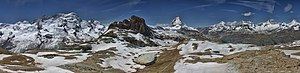 Zermatt - Panorama View of Summits
