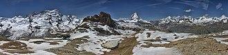 Zermatt - Panorama View of Summits