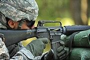 1st Lt. Keller Fires M16 (7637605542)