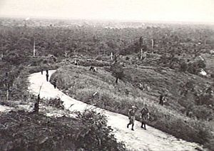 2/13th Battalion (Australia) - A patrol from the 2/13th returns to the battalion's positions around Miri, August 1945