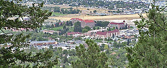 Carroll College (Montana) - Southern portion of the Carroll College campus, as seen from atop Mount Helena