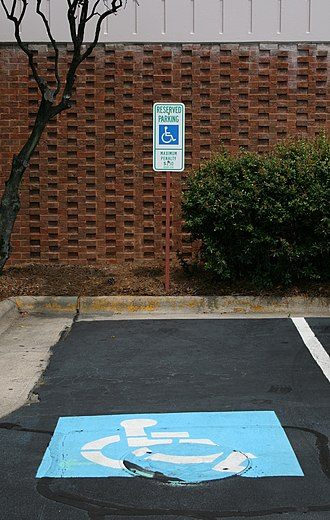 Disabled parking permit - Accessible parking space at the University of North Carolina in Chapel Hill