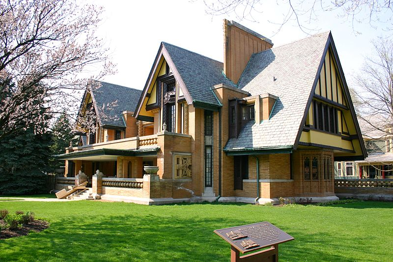 Nathan G. Moore House, Oak Park, IL, USA designed by Architect Frank Lloyd Wright in 1895