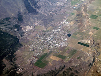 Panguitch, Utah - Aerial photo of Panguitch, November 2010