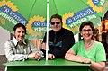2014-05-24 Wikipedia Norddeutschland, Uelzen, (058) Drei vom Team Bündnis 90 Die Grünen zur Wahl des Bürgermeisters und zum Europäischen Parlament.jpg