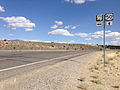2014-09-09 15 08 05 View east along U.S. Route 50 about 33.7 miles east of the Lander County line at the junction with Nevada State Route 278 (Eureka-Carlin Road) in Eureka County, Nevada.JPG