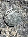 2015-07-13 11 47 03 United States Geological Survey marker on the summit of Charleston Peak, Nevada.jpg