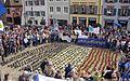 2017-03-26, Pulse of Europe, Pro-Europa-Demo auf dem Augustinerplatz in Freiburg, Trikolore aus Primeln.jpg
