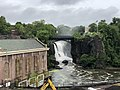 2018-07-25 08 23 15 View of the Great Falls of the Passaic River from just north of McBride Avenue within Paterson Great Falls National Historical Park in Paterson, Passaic County, New Jersey.jpg