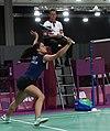 2018-10-12 Badminton Mixed International Team Final match 6 at 2018 Summer Youth Olympics by Sandro Halank–009.jpg