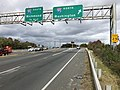 2018-10-29 12 37 31 View north along Virginia State Route 286 (Fairfax County Parkway) at the exit for Interstate 95 NORTH (Washington) in Springfield, Fairfax County, Virginia.jpg