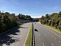 2018-10-30 13 21 51 View west at the west end of Virginia Route 289 (Franconia-Springfield Parkway) from the overpass for Virginia Routes 286 & 638 (Fairfax County Parkway-Rolling Road) in Newington and West Springfield, Fairfax County, Virginia.jpg