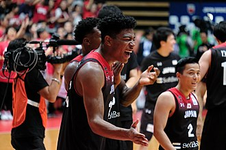 Rui Hachimura - Hachimura after a 2019 FIBA World Cup qualification game with Japan