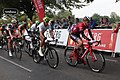2018 Tour of Britain stage 3 045 Matthew Teggart, 016 Jay Thompson, and 182 Nils Eekhoff.JPG