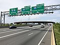 2019-05-29 14 51 21 View north along Interstate 95 (Henry G. Shirley Memorial Highway) at Exit 170 (Interstate 395 and Interstate 495, Washington, Tysons Corner) in Springfield, Fairfax County, Virginia.jpg