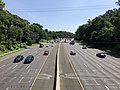 2019-07-12 11 01 53 View north along Interstate 495 (Capital Beltway) from the overpass for Persimmon Tree Road on the edge of Cabin John and Potomac in Montgomery County, Maryland.jpg
