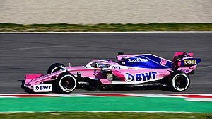 2019 Formula One tests Barcelona, Stroll (47209286722).jpg