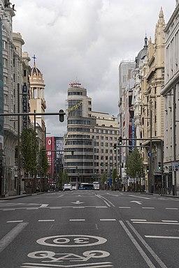 22 de marzo 2020-Gran Via-Madrid