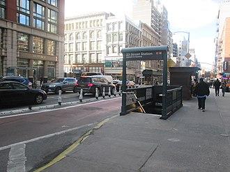 23rd Street station (PATH) - Image: 23 St 6 Av after ESI Dec 2018 13