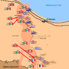 Axis Armoured Divisions counter-attack: 6:00 p.m. 24 October