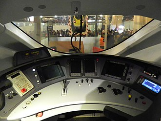 British Rail Class 374 - The cab of a Class 374 at Paris Gare du Nord