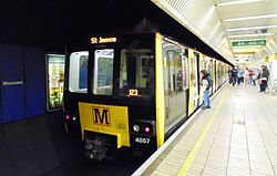 4057 at Monument Metro station, Newcastle, 20 June 2015 (crop).jpg