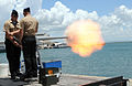 40 milimeter saluting cannon at Guantanamo, on memorial day, 2010.jpg