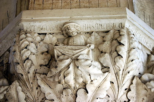 4666 - Venezia - Palazzo ducale - Capitello 17 - Arti liberali - Pitagoras arsmetricus - Foto Giovanni Dall'Orto, 31-Jul-2008