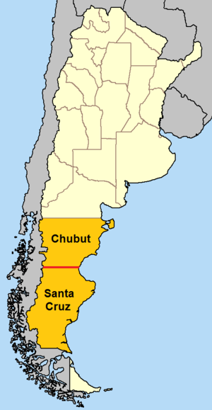 46th parallel south - In Argentina, the 46th parallel south defines the border between Chubut Province and Santa Cruz Province.