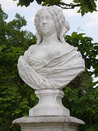 François Dieussart - Bust of Mary, Princess Royal and Princess of Orange in Sanssouci.