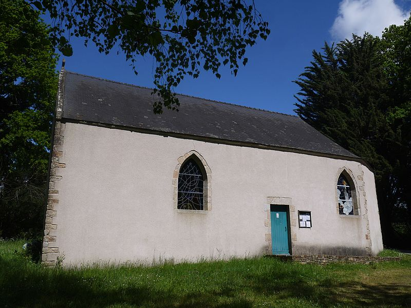 Côté sud de la chapelle.