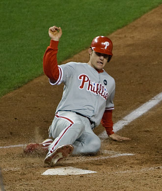 Lou Marson - Marson playing for the Phillies in 2009