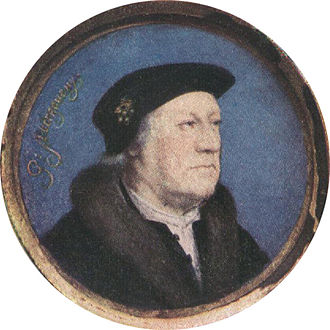 George Nevill, 5th Baron Bergavenny - Miniature by Hans Holbein the Younger (Duke of Buccleuch collection)