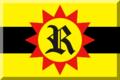 600px Giallo e Nero (strisce orizzontali) con sole Rosso e R Nera.png